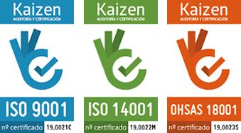 Logos Kaicen Certificaciones