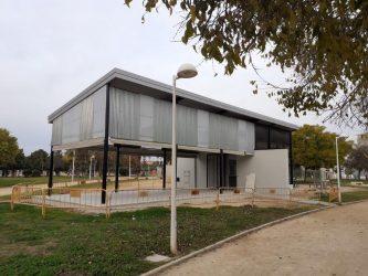 Obras de reparación del kiosco del Parque Paluzié